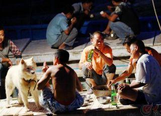 网友记录威海渔港码头的出海备渔影像