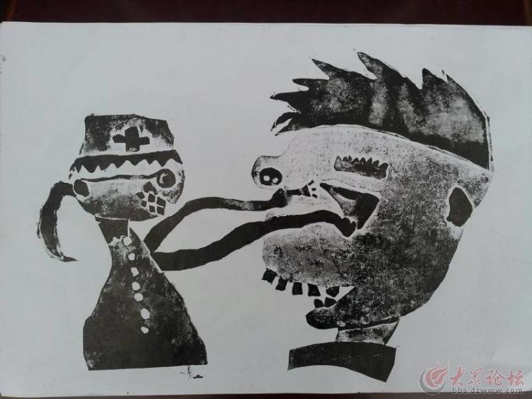 儿童版画 襄阳金童美育幼儿园