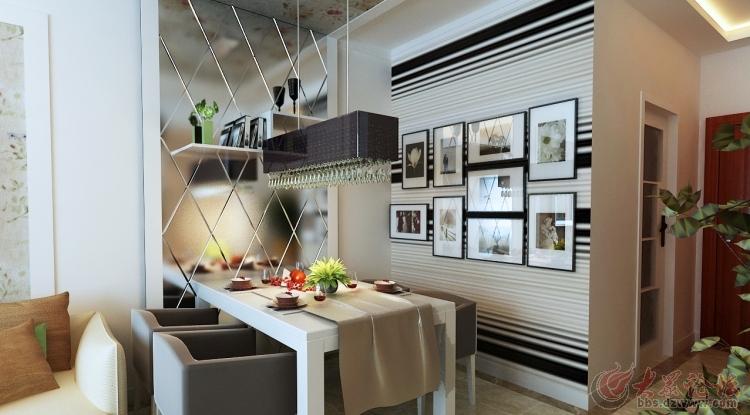 济南实创装饰 万象新天88平米两居室装修效果图