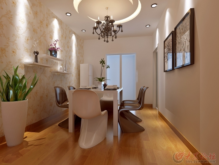 济南实创装饰 翡翠清河90平米两居室简约装修效果图