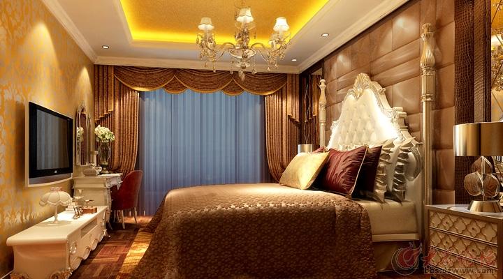济南实创装饰-名泉春晓欧式风格89平米两居室装修