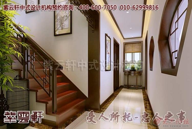 古典中式别墅过道装修效果图