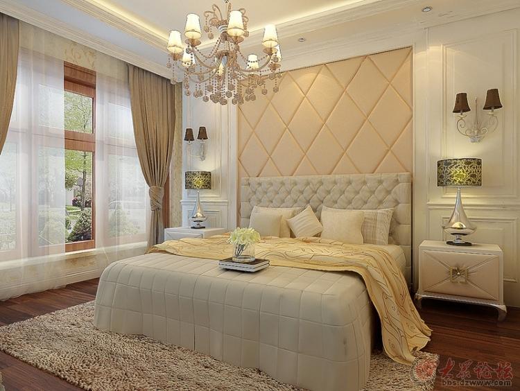 济南实创装饰 翡翠清河116平米欧式三居装修效果图
