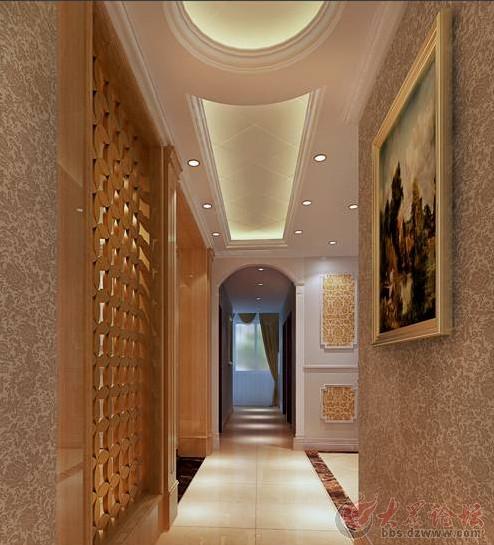 济南实创装饰 领秀城中央公园147平米欧式三居装修效果图
