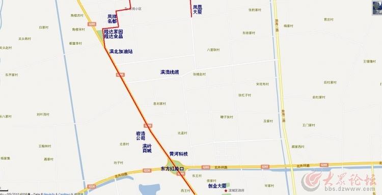 滨城区2路公交线路图