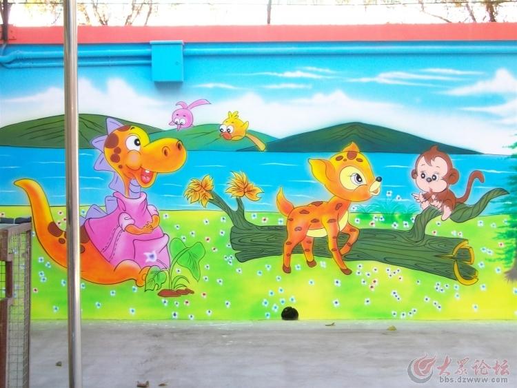 德州街道文化墙 济南幼儿园彩绘 古建筑彩绘 农村宣传