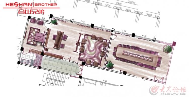 办公室手绘平面图