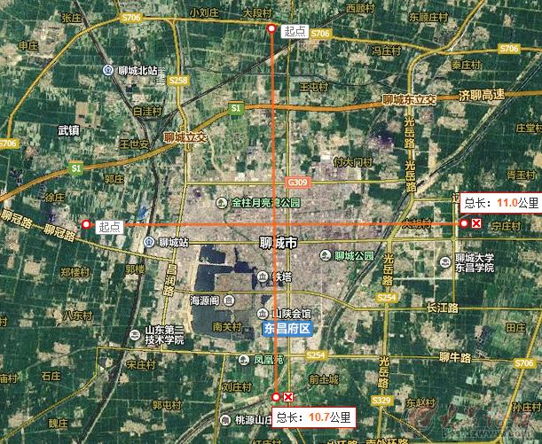 从百度地图看山东十七地市城市发展状况