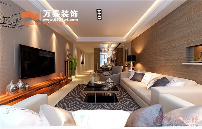 鲁能领秀城118平三居室港式风格装修效果图