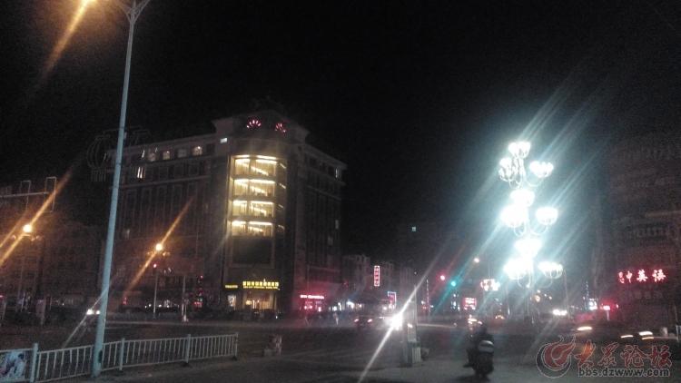 曹县夜景 汽车站路口