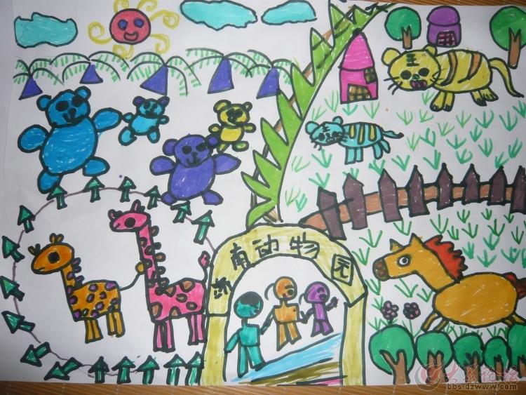 有趣的旅游儿童画