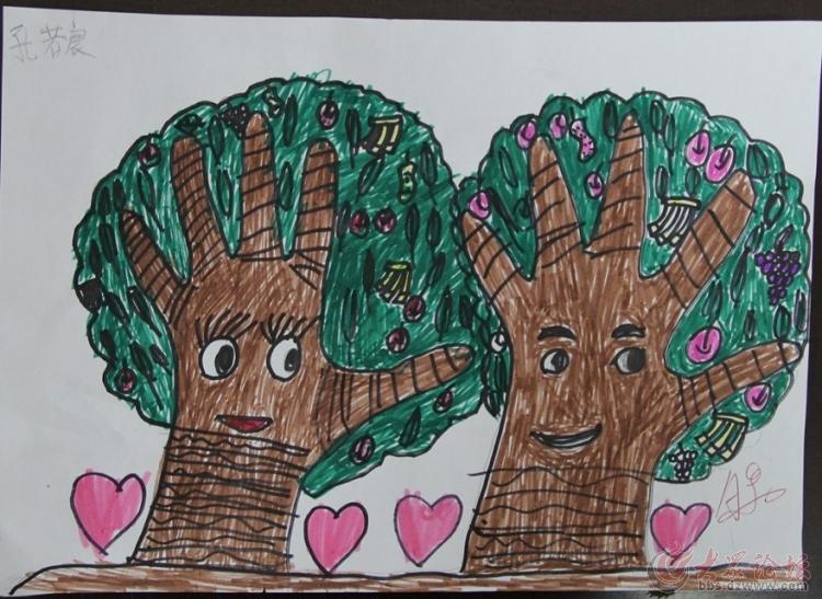 十个手指头创意画,一年级挑战你的创造力
