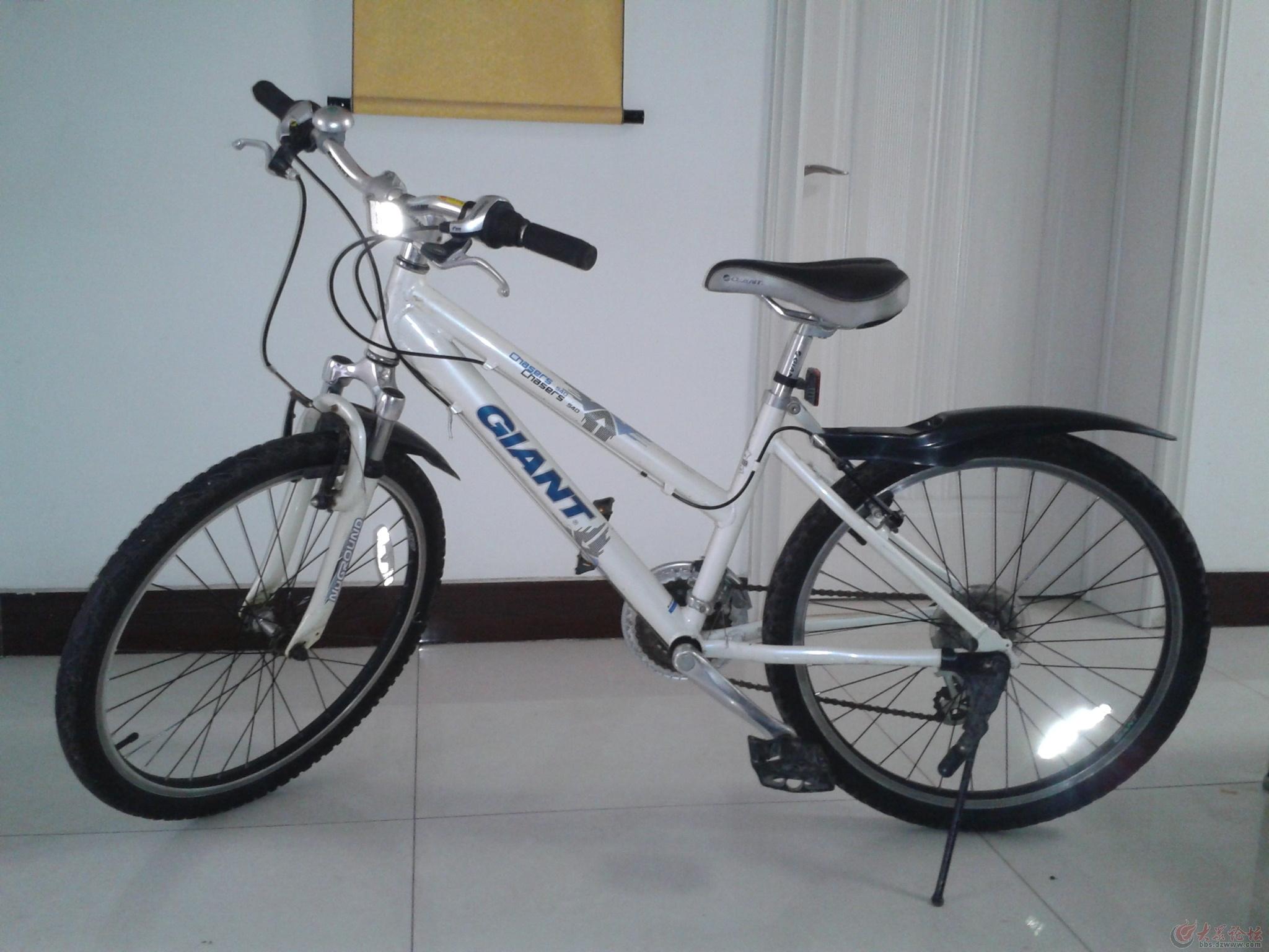 捷安特白色山地自行车出售