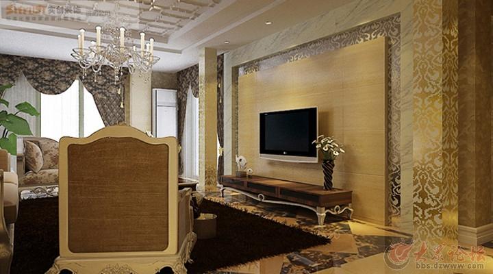 济南实创装饰-中建凤栖地-129平米三室现代欧式风格