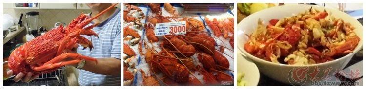 把洗干净的大龙虾放到菜板上