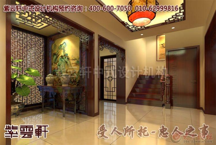 中式平层居家装修设计效果图