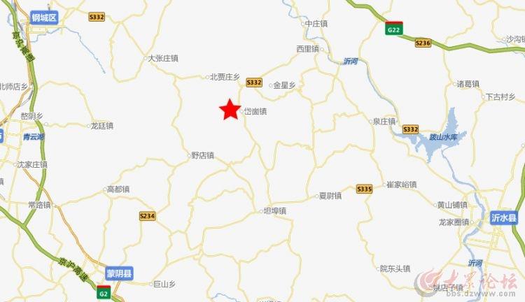 蒙阴县岱崮镇地图