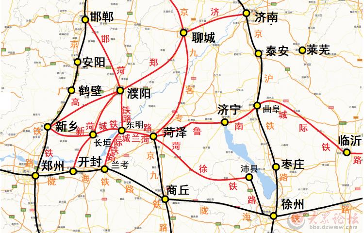 新乡到山东青岛地图火车