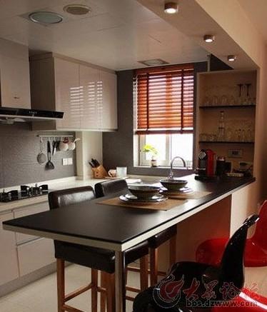 敞开式厨房装修效果图 高大上的家