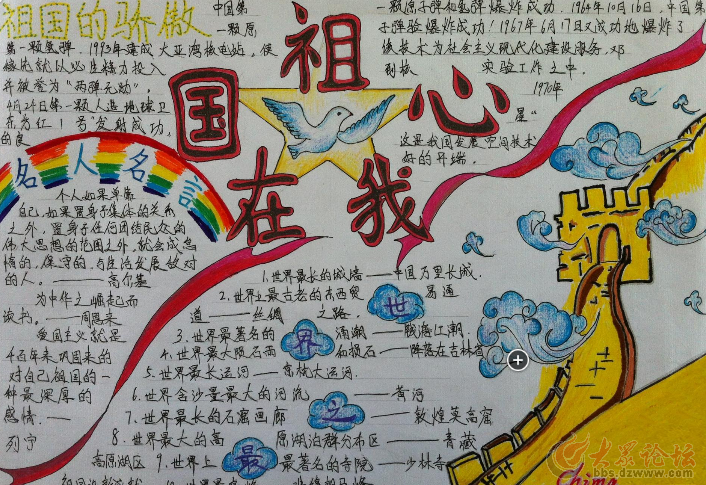 手抄报作为一种简单易做又兼具观赏传阅功能的表现形式,深受中小学生及广大学生家长的喜爱。通过书写、绘画及创意制作,不同作品可体现出不同学生的设计构思。现号召全省中小学生用制作手抄报的方式为国旗添彩,用自己手中的画笔,书写中小学生的爱国热情,描绘当代中小学生学习生活的良好风貌。   一、参与方式(择其一即可):   1、 参赛选手将自己的作品拍照或扫描,以图片文件的形式上传到该帖文的跟帖中,回复本贴参与比赛。   2、 参赛选手将自己的作品寄至大赛组委会,邮寄地址:山东省济南市历下区泺源大街2号传媒大厦