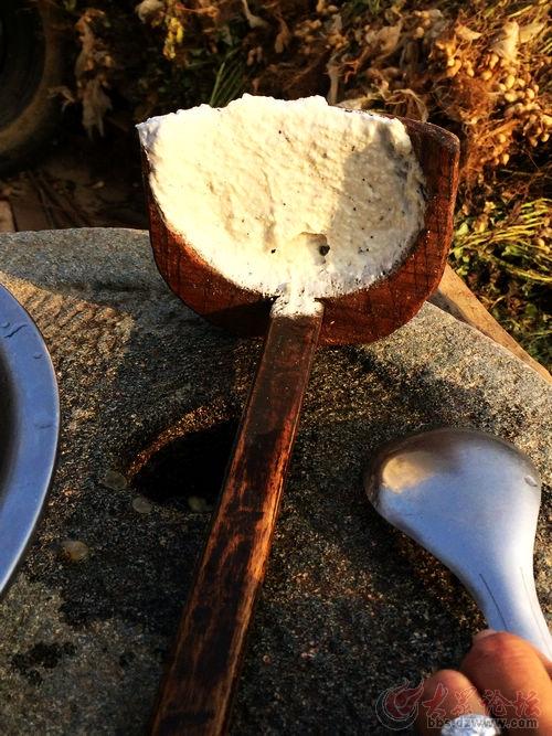 俺娘做的石磨 小豆腐