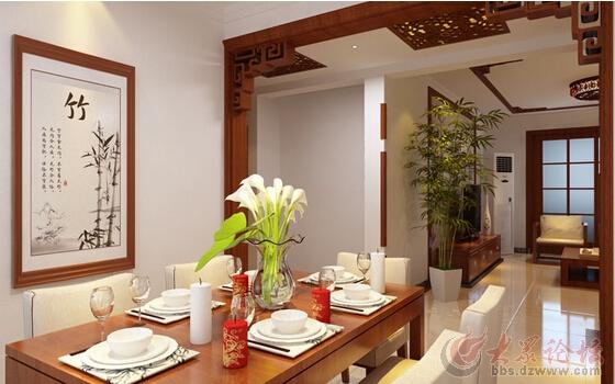140平米的房子中式装修,涵玉翠岭三居室案例设计
