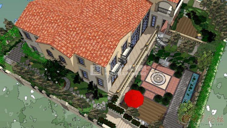 格拉斯小镇别墅庭院景观设计