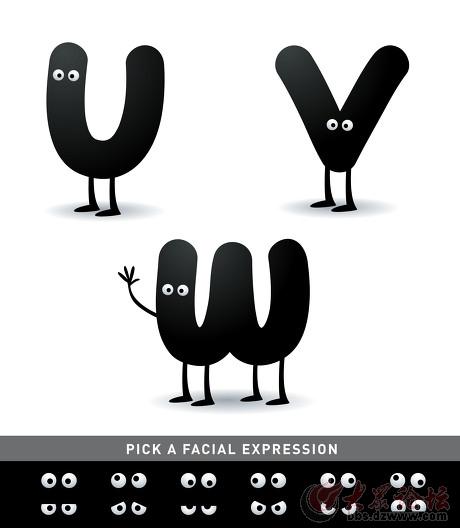 趣味字母创意设计图 原来字母可以这么好看呢?