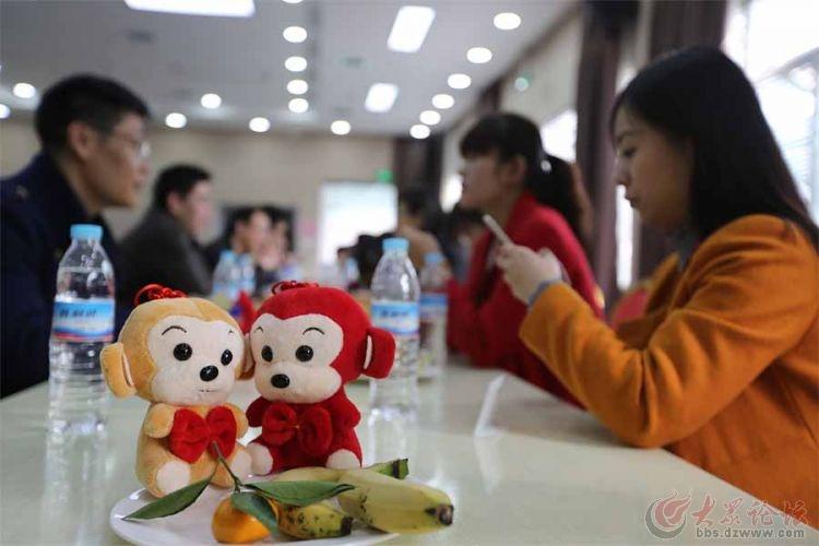 成双成对的小猴子为嘉宾带去好运.jpg