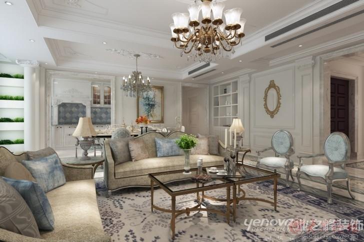 客餐厅装修采用典型的欧式风格家具