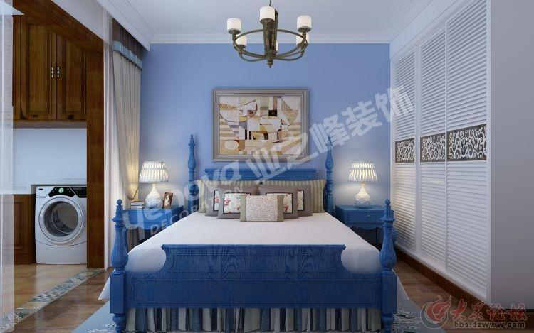 卧室天蓝色欧式装修效果图
