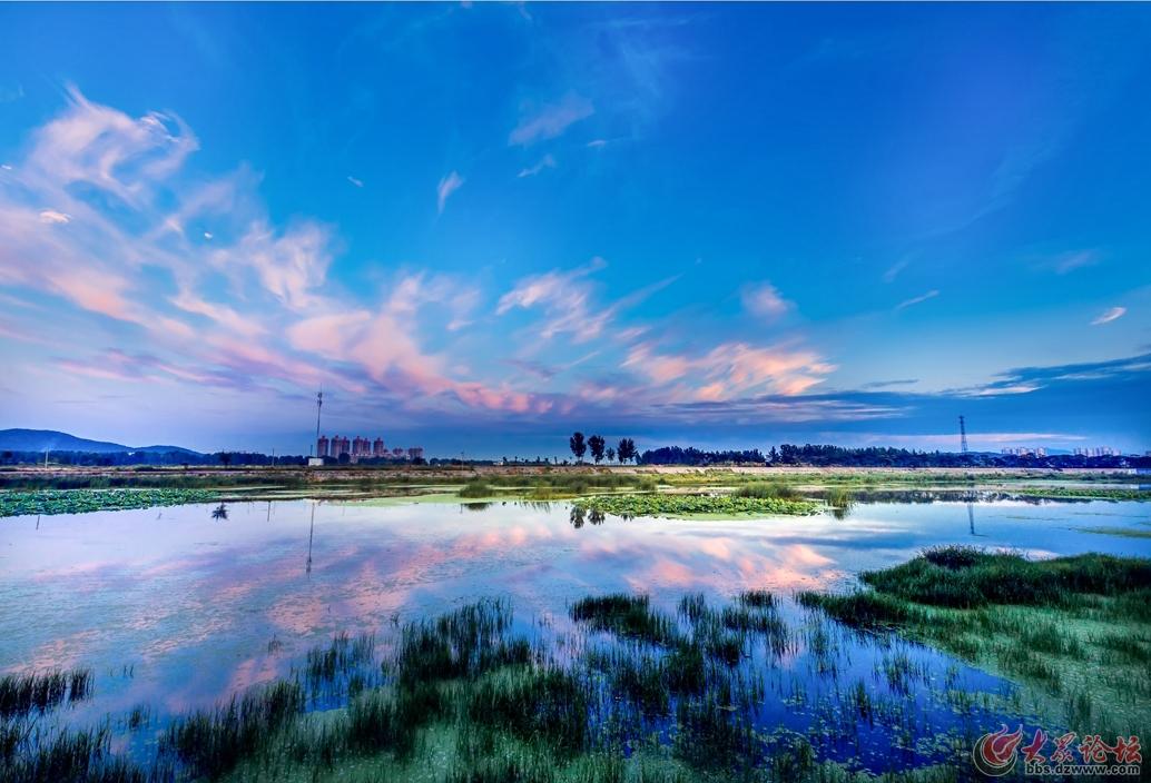 曲卫国已发表2016,福山夹河日落.jpg